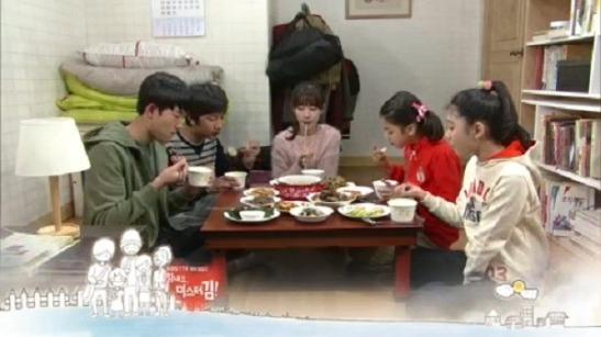 Scène de repas dans le k-drama